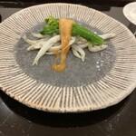 148275000 - 氷魚と菜花とこのわた