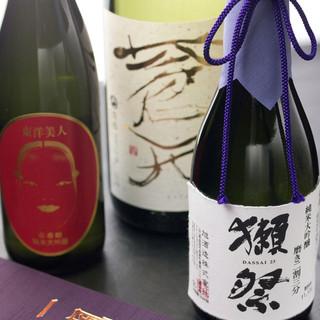 人気の日本酒を取り揃えております
