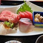 女川海の膳ニューこのり - お刺身のアップです