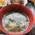 魚真 - あおさの味噌汁