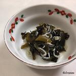 レストラン熊さん - 茎若芽と釜揚げしらす
