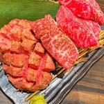 TOKYO焼肉ごぉ はなれ - 究極厚切り4点盛り