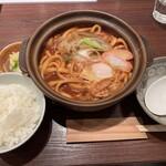 148288521 - 味噌煮込みうどん+付属のご飯