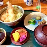 すし・うまいもの処 伊津美 - 春天丼と山菜セット ¥950 (税抜)