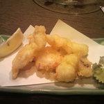 だんまや水産 - 生たこ天ぷら 450円(2012.09.10)