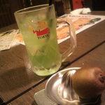 だんまや水産 - 生搾りキウイフルーツサワー(2012.09.10)
