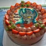 14829943 - 2012年、今年の誕生日のケーキはこんな感じ。