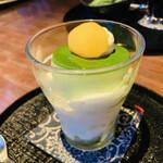 社彩庵・ひらしお - 料理写真:抹茶プリンパフェ
