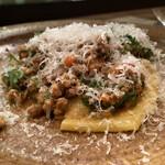 Passo a Passo - 馬肉とつくしのラグーソース、パッパルデッレ