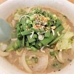 麺's ら.ぱしゃ - 料理写真:塩韮麺(しおにらめん)¥850+大盛¥160