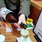 ハンターズ&ファーマーズ 田歌 - 吟醸酒 スタッフが注いでくれます
