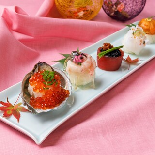 見た目も華やかなてまり寿司