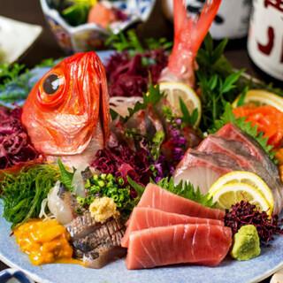 黒潮といえばお造り!新鮮で味わい深いお刺身を低価格でご提供!