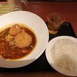 札幌スープカレー本舗 - メンチ&クリームコロッケ 黒カレー