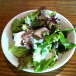 ブッチャーズキッチン - ランチハンバーガーに付いてるサラダ