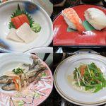 14836647 - お造り・寿司・南蛮漬け・地鶏ソテー