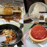 14836680 - 味噌たんぽ・白飯・蕎麦・フルーツ
