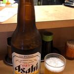 銀座屋 - 大瓶ビールアサヒ380円