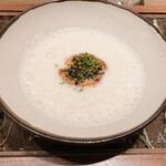148367820 - 新玉ねぎのスープ。