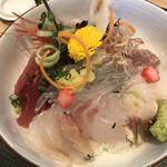 魚留 - 本日の海鮮10種盛り☆