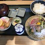 魚留 - 3種盛り刺身定食☆