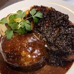 洋食コノヨシ - 特製ハンバーグとコノヨシポーク(ジンジャーバルサミコ)の盛り合わせ