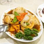 菜香新館 - 烏賊の豆鼓炒め