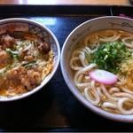 さぬきうどん 天霧 - 料理写真:唐揚げ親子丼とうどんセット(730円)