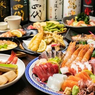 鮮魚にこだわりと自信‼旬の魚をふんだんに使った料理◎