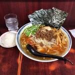 二代目めん家 味味 - 全部のせ赤担々麺 大盛り 小ライス 1,050円(税込)