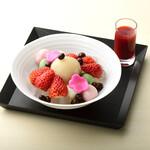 FUMUROYA CAFE  - 季節の麩あんみつ<いちご>