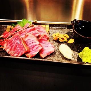 厳選した和牛のステーキ。お肉を食べるなら【Re楽酒】