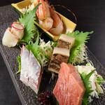 ぬる燗 佐藤 - 鮮魚5種盛り