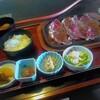 竹藩 - 料理写真:うすぎり国産牛ロースレモンステーキ定食(¥1,280)