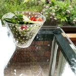 1484043 - ガラステーブルに写り込むサラダ☆