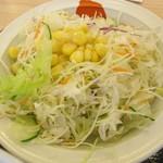 松屋 - サラダ付き