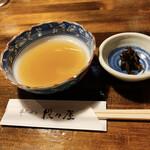 串天ぷら 段々屋 - 天つゆ、漬物
