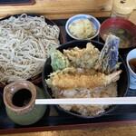 手打ちそば 花千里 - 料理写真:エビ天丼セット