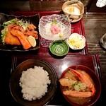 海老の髭 - ミックス定食(ランチ)1,000円