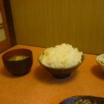 14844830 - 元気にもりもりセット(大ご飯、味噌汁)
