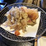 鮎の庄 - ホタルイカの天ぷら