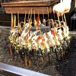 鮎の庄 - 焼き場の鮎