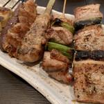 UTA猿 - 料理写真:焼き鳥おまかせ6本盛り(塩)
