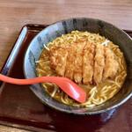 CoCo壱番屋 - 料理写真:■手仕込とんかつカレーらーめん。 麺大盛りで税込¥1118-!かなりお高い印象…