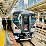 148467063 - ◎ 『らぁ麺屋 飯田商店』のある神奈川県湯河原町まで、東京駅から「特急踊り子」に乗り1時間14分。都内からは遠い。