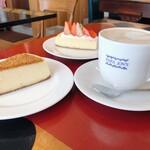 パパジョンズ - ケーキとカフェオレ
