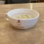 パンケーキママカフェ VoiVoi - スープのカップにもvoivoiのマーク♡可愛い