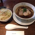 麺処 山一 - 醤油 選べるご飯セット 1,000円(税込み)
