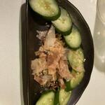 牡蠣料理ともつ鍋が旨い個室居酒屋 うみきん - * 胡瓜浅漬け 480円