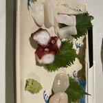 牡蠣料理ともつ鍋が旨い個室居酒屋 うみきん - * アオリイカ 500円 * ホタテ 500円 * たこぶつ 500円